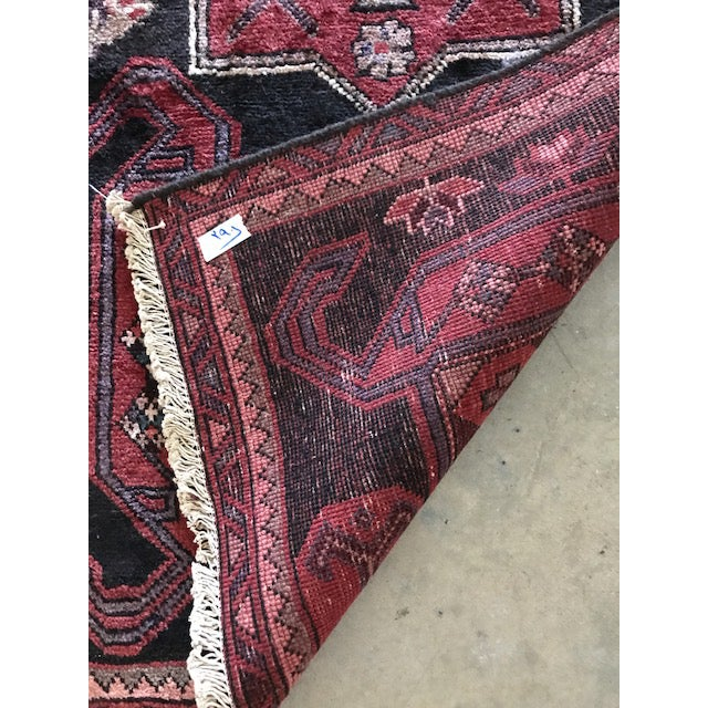 Vintage Persian Area Rug Runner W/ Millennial Pink Accents