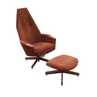Vintage Adrian Pearsall Lounge Chair & Ottoman