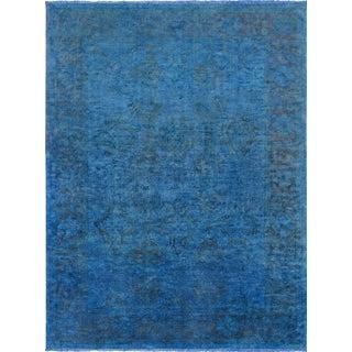 "Pasargad Contemporary Blue Overdye Lamb's Wool Area Rug -10'5"" X 14'"