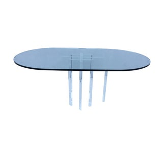 1970's Modern Lucite Oval Dining Table