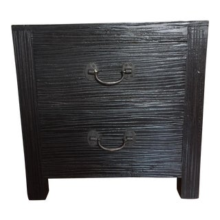 Distressed Dark Brown Side Table