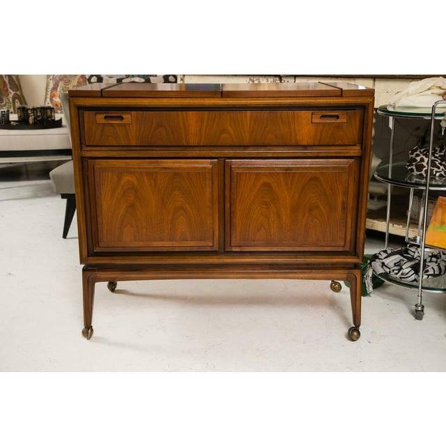 Mid-Century Custom Flip-Top Bar Cabinet - Image 3 of 10