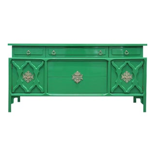 Gloss Green Transitional Asian Console