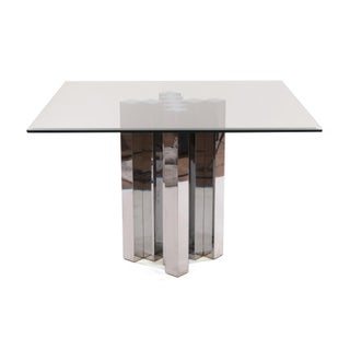 1970s Sculptural Cubist Dining Table Base