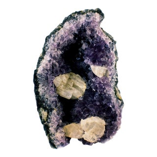 Amethyst Calcite Crystal Specimen Decorator Piece