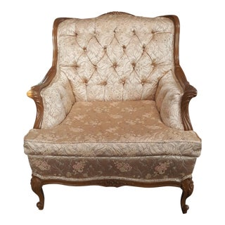 Vintage French Blush Brocade Chair