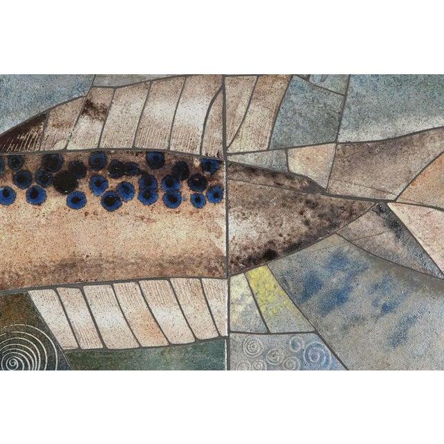 Mid-Century Framed Fish Tile - Image 6 of 7