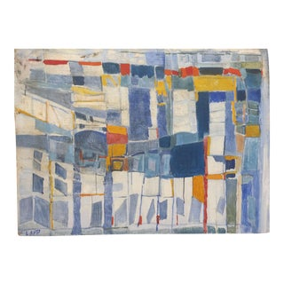 Blue Squares Maurice Lapp c. 1960s Abstract