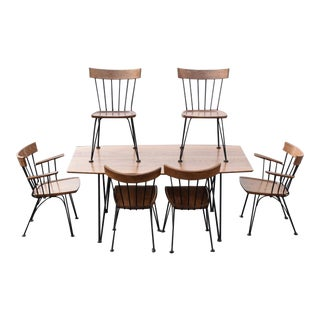 Lyman Woodard Dining Table and Chairs - Set of 7