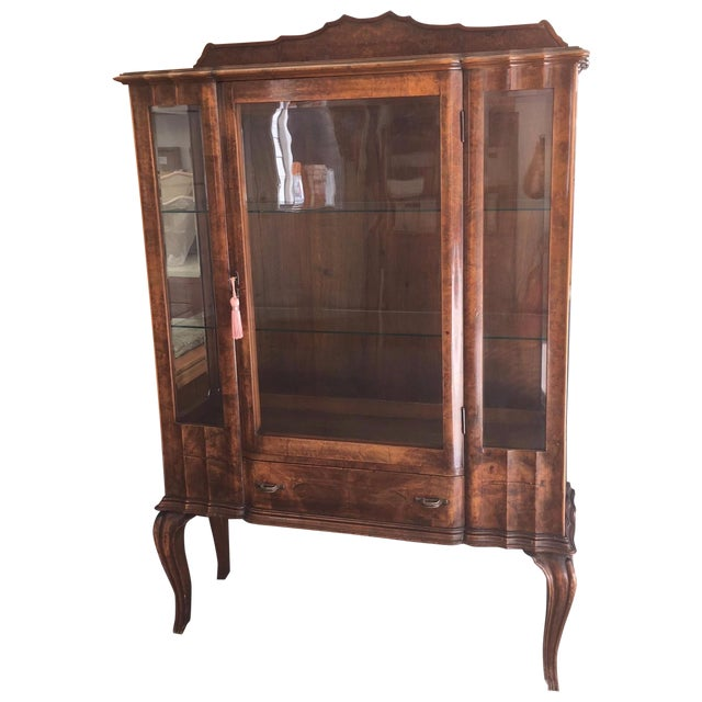 Image of Antique Queen Anne China Cabinet