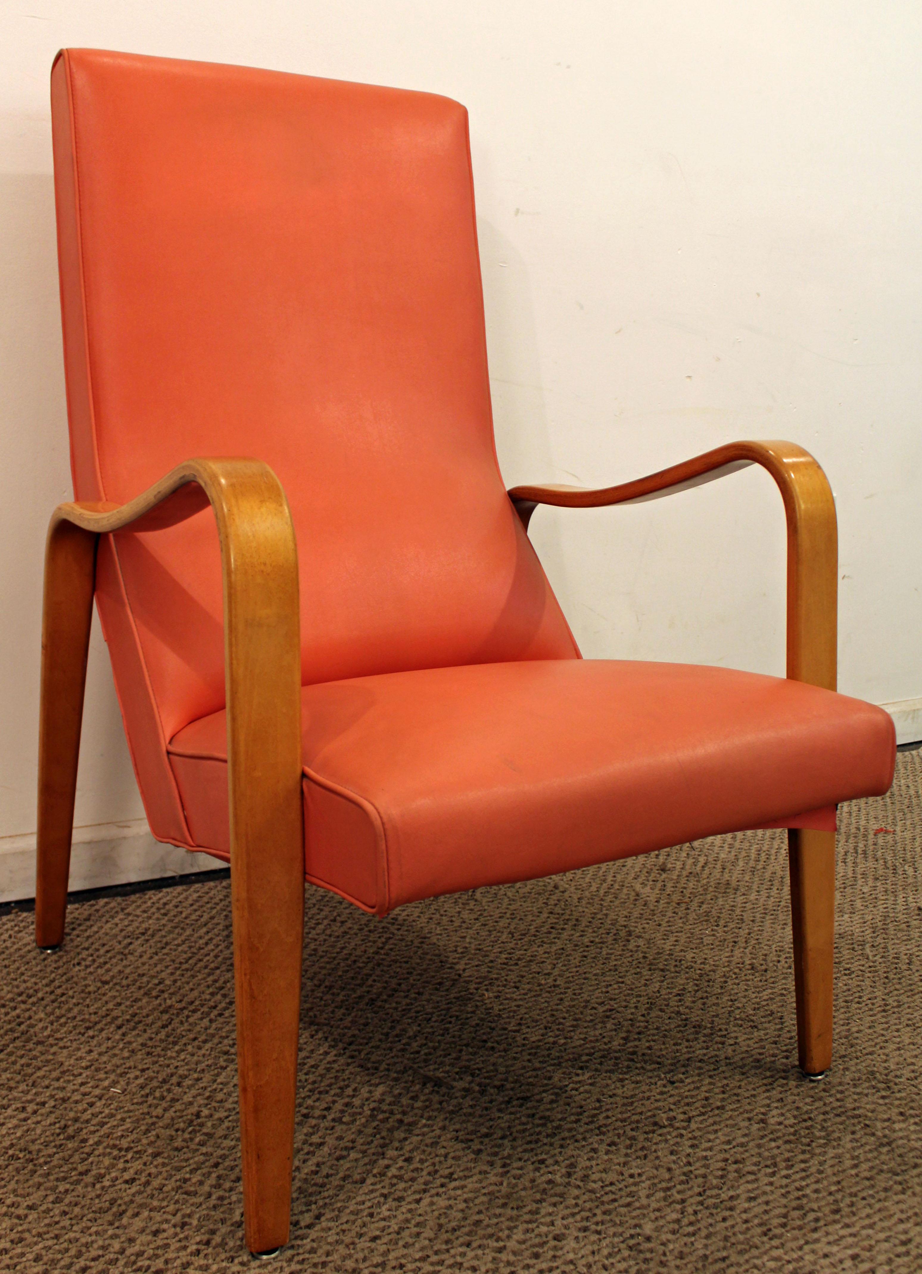 Thonet Mid Century Danish Modern Bentwood Arm Lounge Chair   Image 3 Of 11