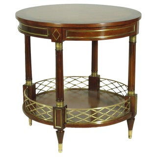 Neoclassic Inlaid Occasional Table