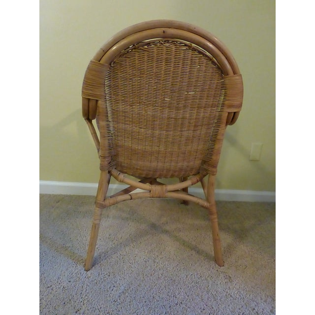Vintage Rattan & Bamboo Chair - Image 4 of 8