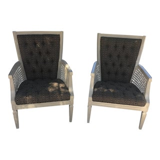 Halston Fabric Accent Chairs - A Pair