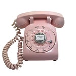Image of Western Electric Model 500 Pink Rotary Dial Telephone