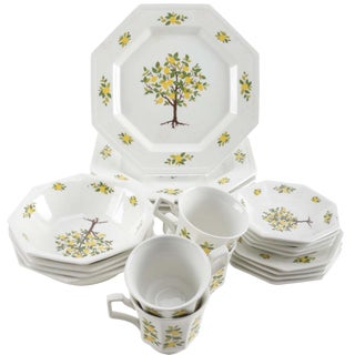 "Johnson Brothers ""Lemon Tree"" Ironstone Service"