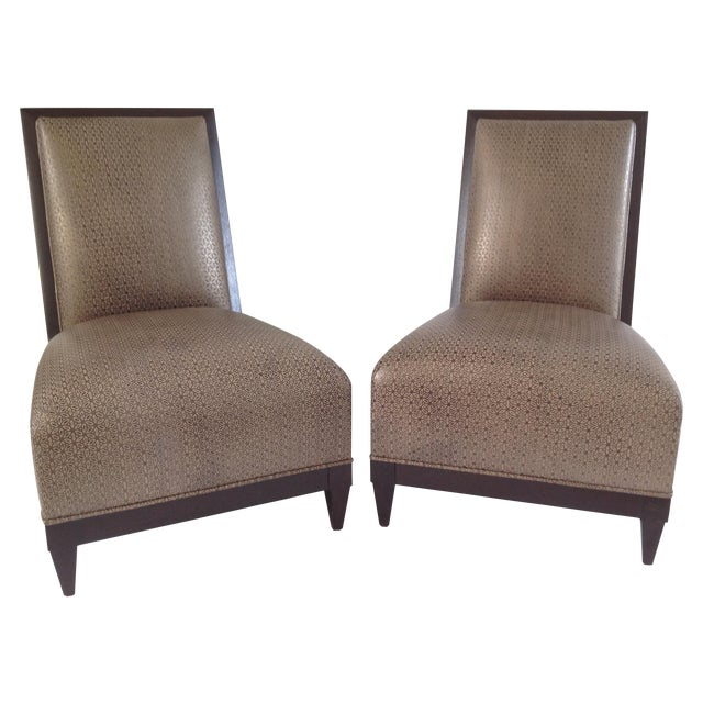 Donghia Panama Occasional Chairs - A Pair - Image 1 of 11