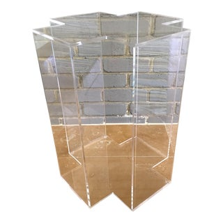 X Lucite Side Table