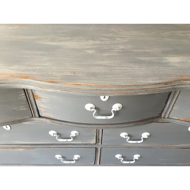 Image of Hand Painted Solid Wood Dresser