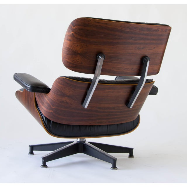 Vintage Eames Lounge Chair With Ottoman - Image 7 of 9