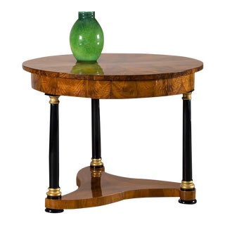 Biedermeier Period Antique German Walnut Table, Berlin, circa 1825