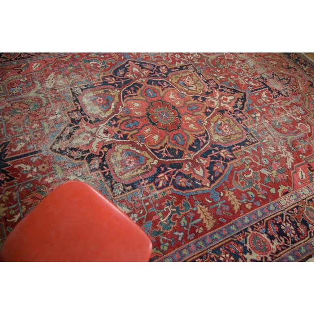 "Image of Distressed Ahar Heriz Carpet - 8'2"" X 11'9"""