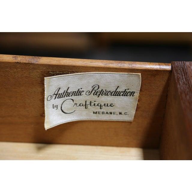 Vintage CRAFTIQUE Solid Mahogany Chippendale Nine Drawer Dresser - Image 6 of 11