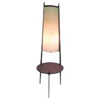 DANISH MODERN TEAK TRIPOD BASE FLOOR LAMP, CIRCA 1960S