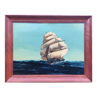 Atlantic Clipper Oil Painting by H.L.Gernant