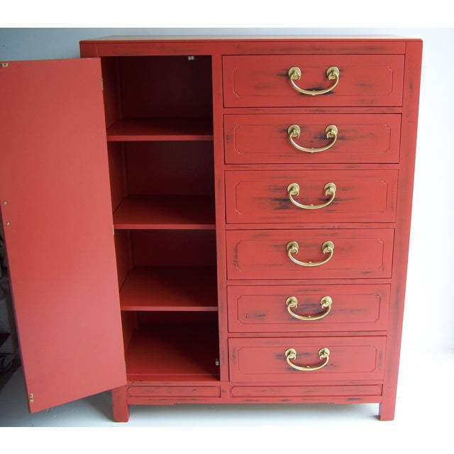 White Furniture Co. 1970 Red Dresser