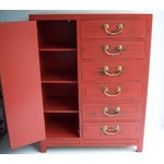 Image of White Furniture Co. 1970 Red Dresser