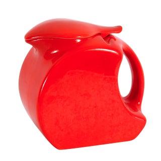 Tilt-Top Red Ceramic Jug