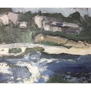 Rocky Shore Seascape Painting