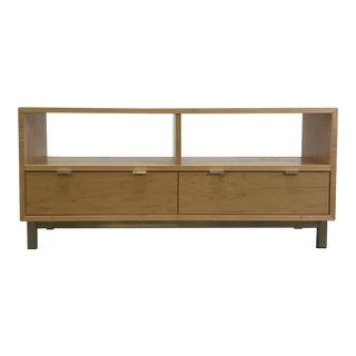 Maple Two Drawer Media Cabinet