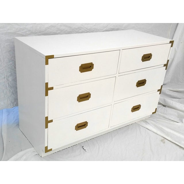 Lacquered Vintage Dixie Campaign Dresser - Image 3 of 8
