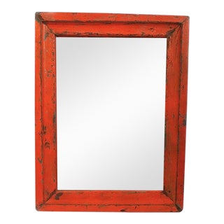 Vintage Orange Mirror Frame