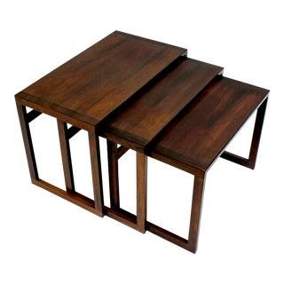 Danish Modern Teak Nesting Tables- Set of 3