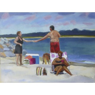Original Painting - Love at the Beach by Anne Carrozza Remick