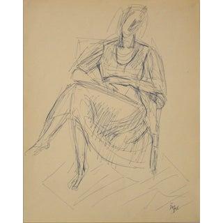 Jennings Tofel Ink on Paper Portrait