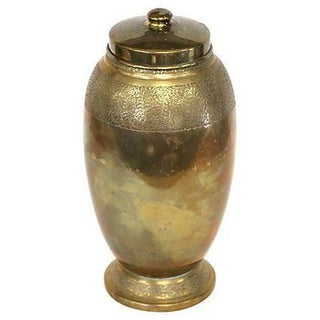 Hand-Etched Brass Lidded Jar