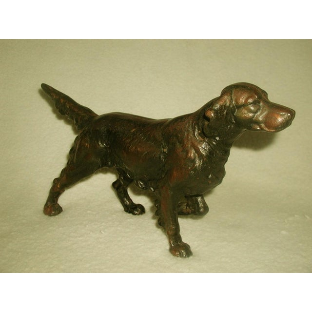Image of 19th C. English Copper Cast Dog Setter