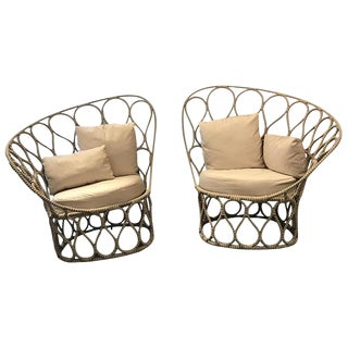 Kenneth Cobonpue Outdoor Lounge Chairs - A Pair