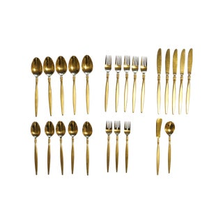 Vintage Gold Plated Flatware