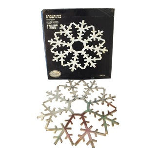 Italian Silver Plate Snowflake Trivet