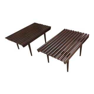 Bench Slat Side Tables - A Pair