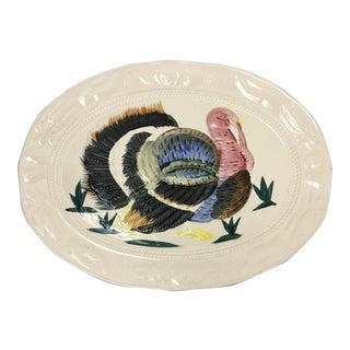 Vintage Mid-Century Ceramic Turkey Platter