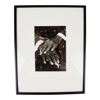 "Vintage ""Hands of Maria"" B&W Photograph - Limited & Pencil Signed"