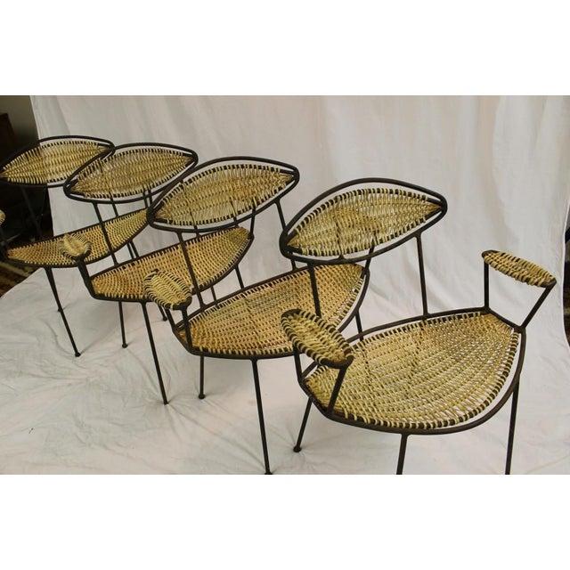 Mid Century Modern Patio Chairs - Set Of 4