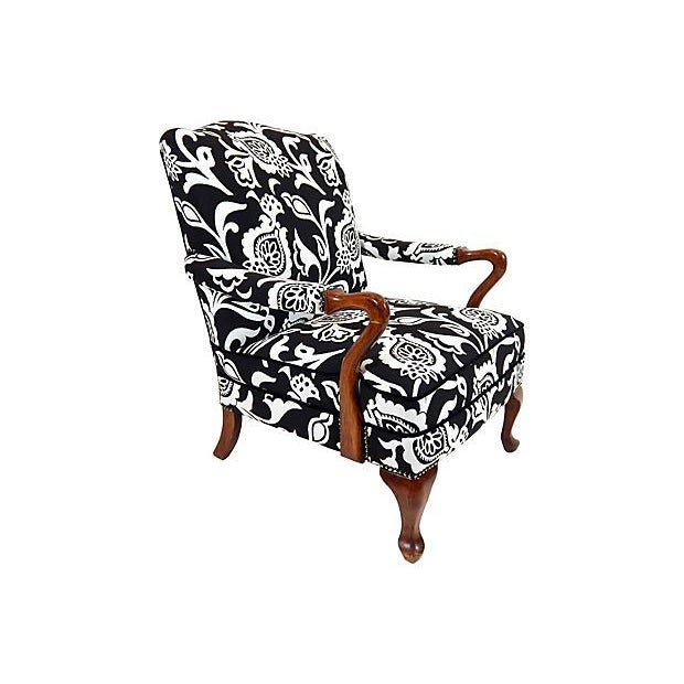 Image of Black & White Gooseneck Armchair