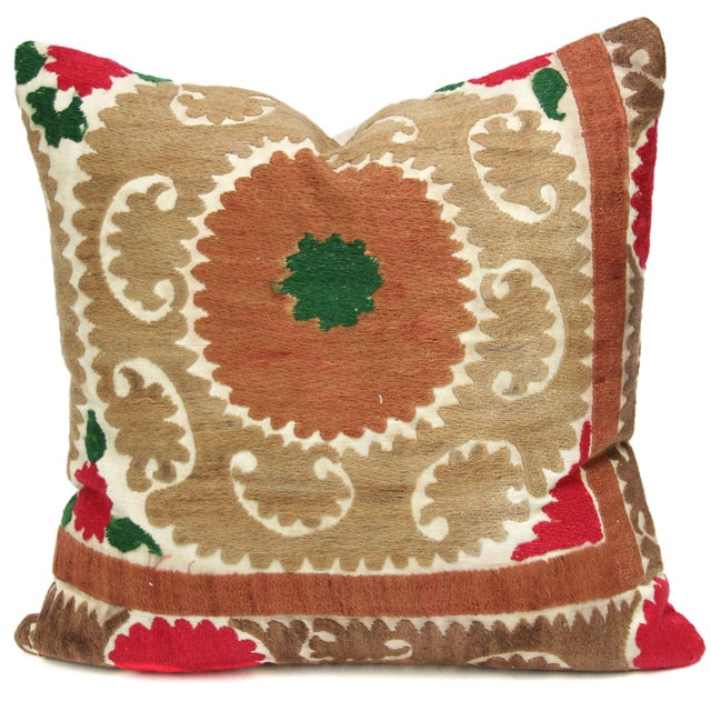 Vintage Suzani Bhag Pillow - Image 1 of 2